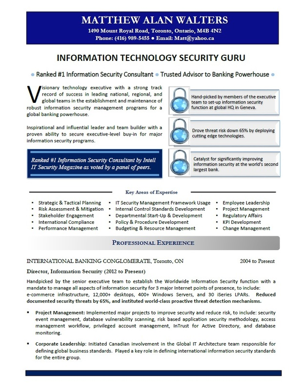 Victoria Resume - IT Resume Sample